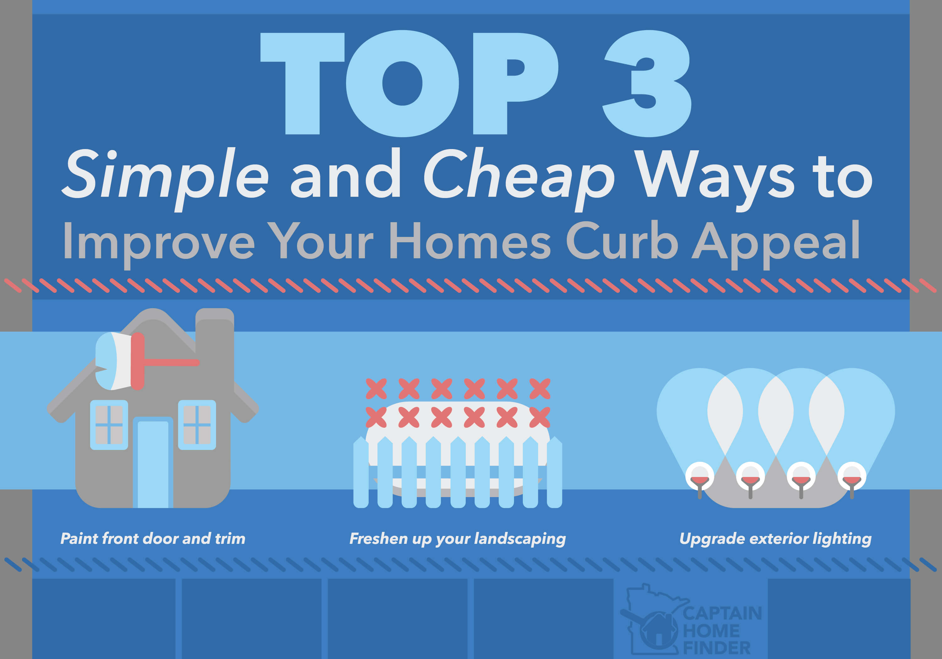 top 3 simple and cheap ways to improve your home 39 s curb